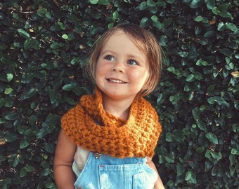 Chunky Textured Cowl Scarf {Autumn Baby} in Butterscotch