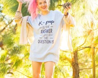 K-Pop Answer Grey Tee