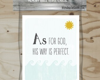 Bible A to Z - Memory Verse Flash Cards