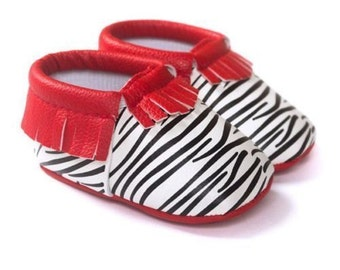 Red Zebra Mocasins