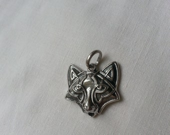Solid Silver Sterling 925 FOX Totem Viking Ethnic