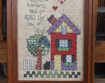 Cross Stitched The Law Of Christ