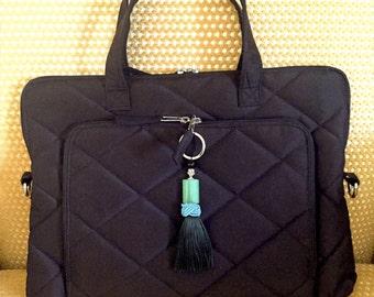 Elegant laptop protective case, sleeve // Pure Silk Padded Handbag // carry everything you need