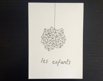 Les Enfants // Minimalist Line Drawing Illustration