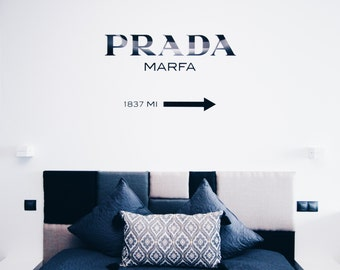 PRADA MARFA Gossip Girl decal home decor sticker fashion acrylic wall decor installation  100 cm X 58 cm
