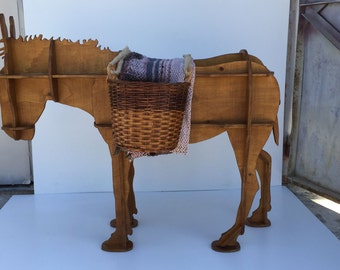 Donkey Animal Interior Design Decoration Hand Made Wooden Shelf