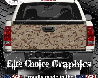 Desert Camo Truck Tailgate Wrap Vinyl Graphic Decal Sticker Wrap