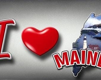 I Heart Maine Car Tag License Plate