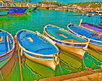 Boats,Warner views,Photography Color landscapeshome decor, ,A Day in Cassis ,France travel photography