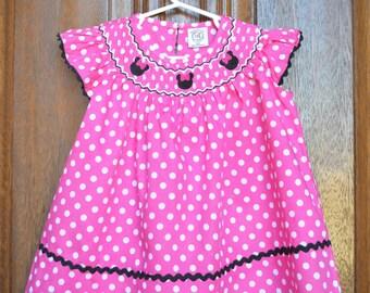SALE! *Minnie Mouse Smocked Bishop Dress*