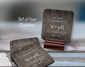 Coasters, Personalized Coasters, Anniversary Gift, Monogram Coasters, Wedding Gift, Monogrammed Gifts, Wedding Hostess, Housewarming Gift