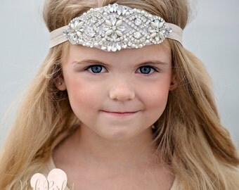 Rhinestone Headband, Flower Girl Headband, Crystal Headband, Bridal Headband, Gatsby Headband, Bling Headband, Wedding Headband