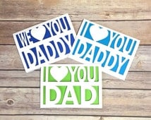 Daddy Card, Father's Day Card, Dad Card, Daddy Birthday, Papercut, Gift for Daddy, Card for Daddy, Father Birthday, Fathers Day