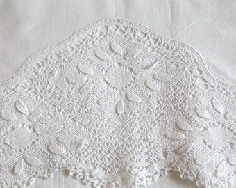 Vintage White Sheet, Flat Sheet and Pillowcase Embroidery Lace, Monogram J & B, Flat Sheet and Pillowcase Set, Vintage Bedding Sets