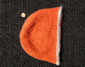 Orange and Grey Beanie