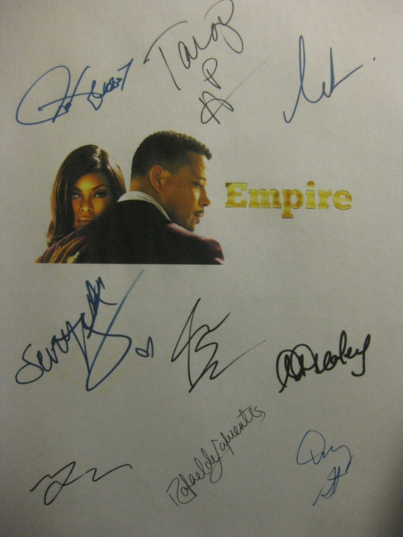 Empire Signed TV Screenplay Script X9 Autograph Terrence Howard Taraji P Henson Gabourey Sidibe Lee Daniels Danny Strong Bryshere Y. Gray
