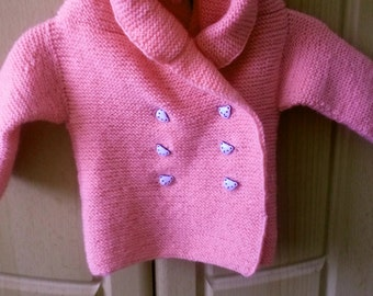 knitted baby peacoat