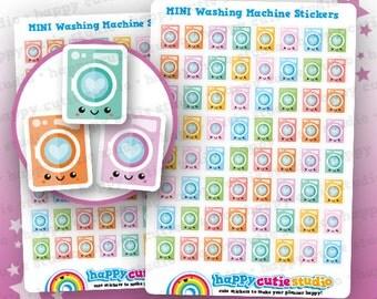64 Cute MINI Washing Machine/Laundry Planner Stickers, Filofax, Erin Condren, Happy Planner,  Kawaii, Cute Sticker, UK