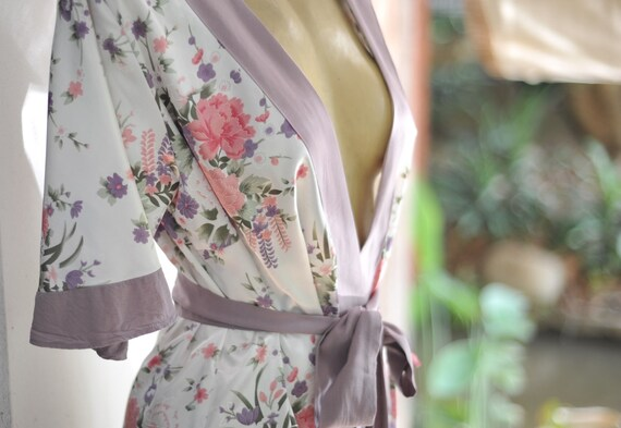 Lady Angel Free Shipping Short Beige Chiffon Bridesmaid: Satin Robechiffon Trim Lilac Purple Pink Floralwhite Satin