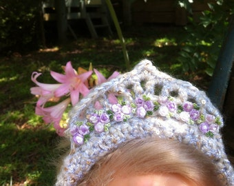 Golden Crochet Tiara