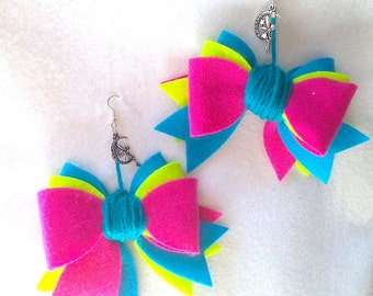 Earrings Textiles fairy & node