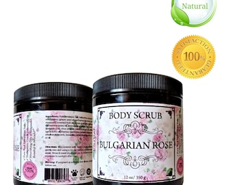 Last Chance Sale - BODY SCRUB, Organic Body Scrub, Vegan Body Scrub, Rose Body Scrub, Dead Sea Salt Scrub, Gifts for Her, Birthday Gift