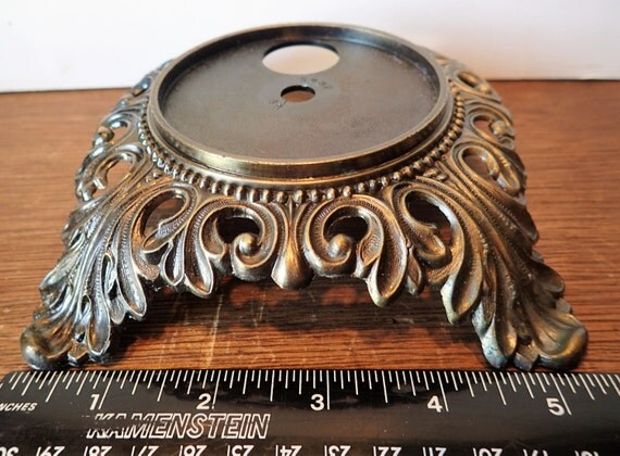 Lamp Base New Cast Metal Antique Brass Gwtw Table Parlor Jug