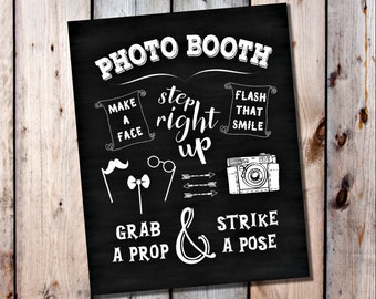 Photo Booth Sign, Chalkboard Wedding, Printable Wedding, Printable Photobooth, Wedding Photos, DIY Sign, DIY Photo Booth, DIY Photobooth