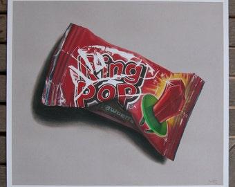 Ringpop Art Print Giclee