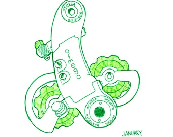 Drawing of Ofmega Bicycle Derailleur