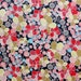 Japanese Fabric, Floral Fabric, Quilting Fabric, Cotton Fabric, Dressmaking, Sewing, Crafting, Black Red Pink, Extra Wide, Half Metre