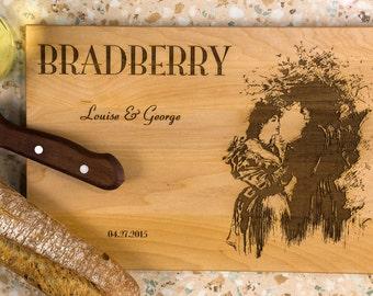 Wooden cutting board, Wedding cutting board, gift for wedding, Housewarming Gift, Wedding Gift for couple, Wedding Gift