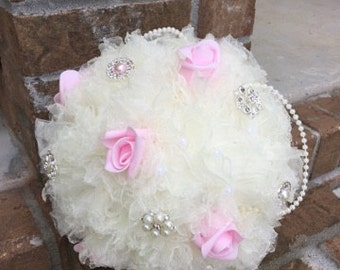 Organza Brooch Bouquet
