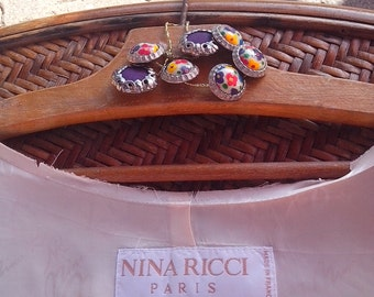 NINA RICCI champagne color lining size 40, 4 stripes and assortment of buttons