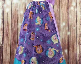 Pillowcase dress with Ana and Elsa, Frozen sisters pillowcase dress, Forever sisters Pillowcase dress, Frozen Pillowcase dress, Frozen dress