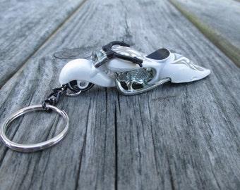 Custom Cruiser motorcycle keychain, Custom Bike W-Oozie, Die Cast keychain, Mens or Womens keychain, Mens or Womens gift