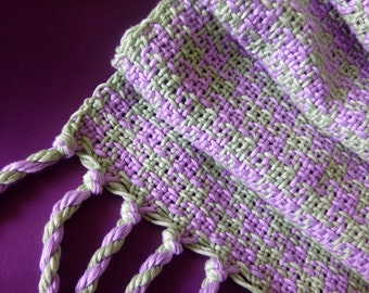 Lilac and green scarf