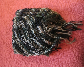 Knit Forest Camouflage Scarf