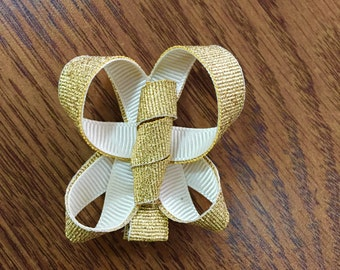 Gold Hair Clip Butterfly
