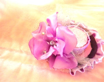 Lavender mini hat clip