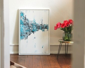 "Abstract art 60cm x 90cm title ""FREEZE"""