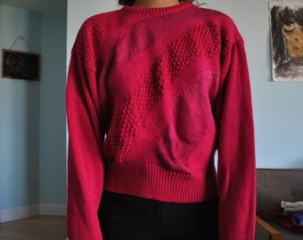 Vintage large pink fuzzy sweater
