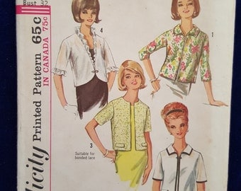 Vintage Simplicity jacket pattern 6021 Size 12