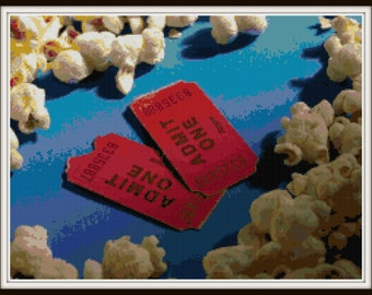 Popcorn Cross Stitch - Movie Night! PDF Download