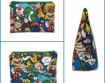 Nintendo Themed Padded Zippered Pouch