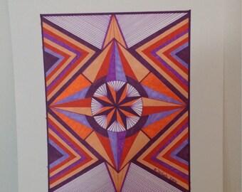 Starburst Unframed -- fits 11 x 14 frame