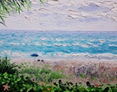 Original Palette Knife Art by Ryan Kimba, Oil Painting Seascape, Beach Painting, Textured Painting, Wall Decor, Crashing Waves on Shore
