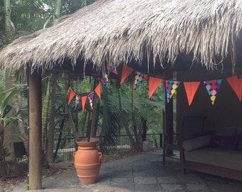 Bunting, Fabric Garland, Decoration, Kids bedrooms, 4 metres 16 flags, Garland, Banner, Schools