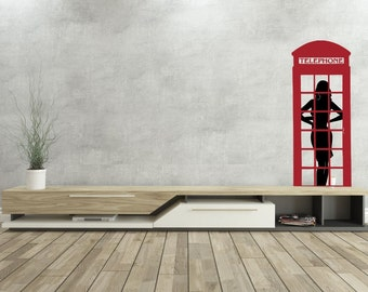 English Phone Booth- Vinyl Wall Decal