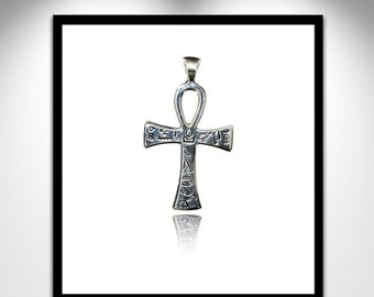 Ankh cross silver and gemstone cross Ankh _ silver and fine stone